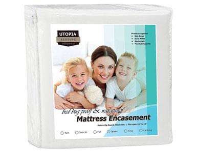 utopia bedding waterproof zippered mattress encasement